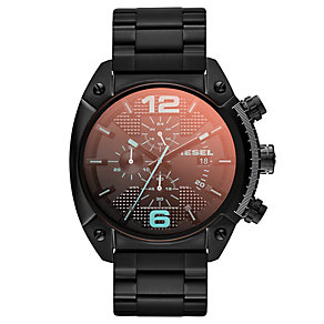 Diesel Overflow Men's Black Ion-Plated Bracelet Watch - Product number 1776967