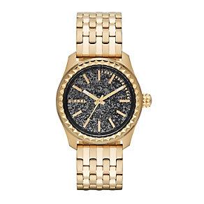 Diesel Kray Kray 38 Ladies' Gold-Plated Bracelet Watch - Product number 1777009