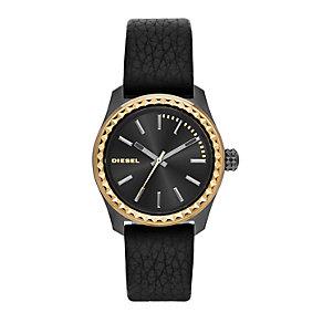 Diesel Kray Kray 38 Ladies' Black Leather Strap Watch - Product number 1777025