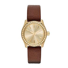 Diesel Kray Kray 38 Ladies' Brown Leather Strap Watch - Product number 1777033