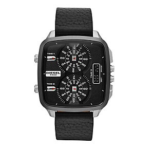 Diesel SBA Hal Men's Chronograph Black Leather Strap Watch - Product number 1777068
