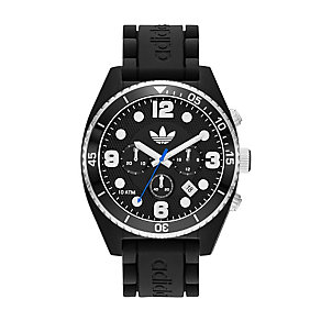 Adidas Originals Brisbane Men's Black Silicone Strap Watch - Product number 1779591