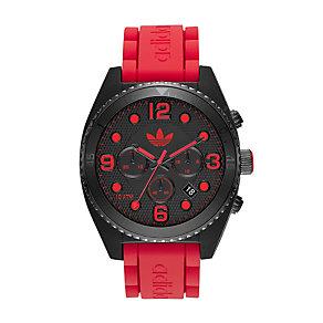 Adidas Originals Brisbane Men's Red Silicone Strap Watch - Product number 1779613