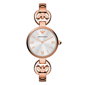 Emporio Armani ladies' rose gold-plated bracelet watch - Product number 1780441