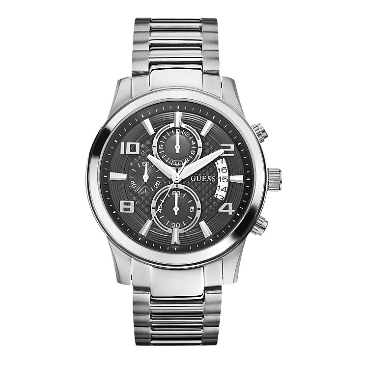 Guess Men's Black Multi Dial Stainless Steel Bracelet Watch - Product number 1780565