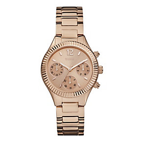 Guess Ladies' Multi Dial Rose Gold-Plated Bracelet Watch - Product number 1780670