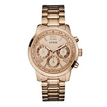 Guess Ladies' Multi Dial Rose Gold-Plated Bracelet Watch - Product number 1780719