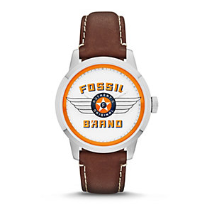 Fossil Men's 30th Anniversary Brown Leather Strap Watch - Product number 1780840