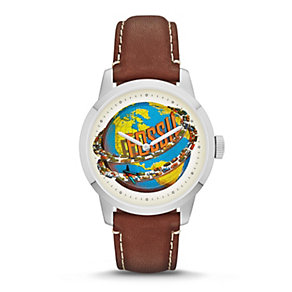 Fossil Men's 30th Anniversary Brown Leather Strap Watch - Product number 1780875