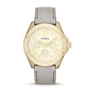 Fossil Cecile Ladies' Grey Leather Strap Watch - Product number 1780999