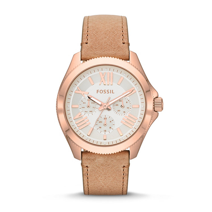 Fossil Cecile Ladies' Nude Leather Strap Watch - Product number 1781006