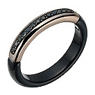 Amanda Wakeley black ceramic & black coloured diamond ring - Product number 1781537