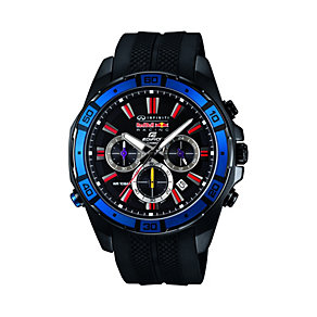 Casio Edifice Red Bull Men's Black Rubber Bracelet Watch - Product number 1781588