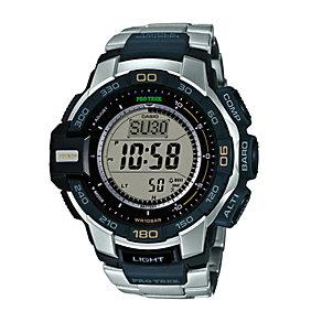 Casio Triple Sensor Pro Trek Stainless Steel Bracelet Watch - Product number 1781693