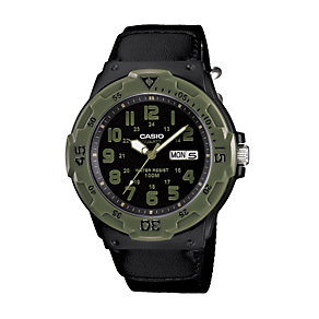Casio Men's Black Dial Black Cloth Strap Watch - Product number 1781774