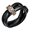 Black Ceramic & Diamond Russian Wedding Ring - Product number 1781782