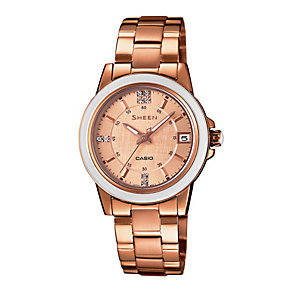 Casio Sheen Ladies' Rose Gold-Plated Bracelet Watch - Product number 1781839