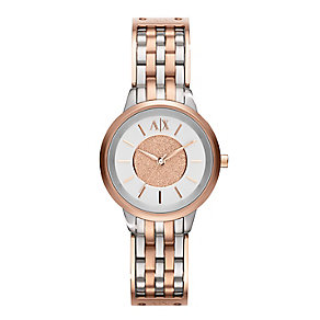 Armani Exchange Ladies' Two Tone Bracelet Watch - Product number 1782169