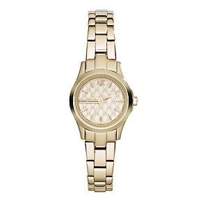 Armani Exchange Ladies' Gold-Plated Bracelet Watch - Product number 1782282