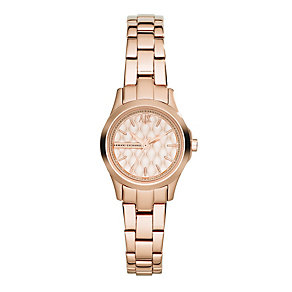 Armani Exchange Ladies' Rose Gold-Plated IP Bracelet Watch - Product number 1782304