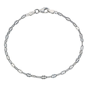 Sterling Silver Fancy Link Chain Bracelet - Product number 1782738