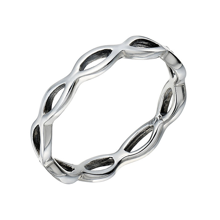 Sterling Silver Open Wave Ring Size P - Product number 1782800
