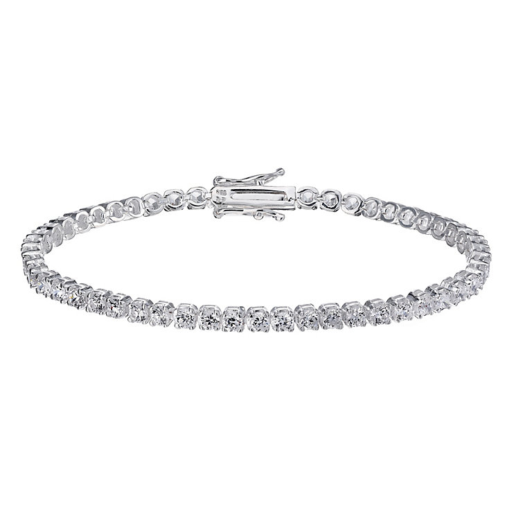 Sterling Silver Cubic Zirconia Claw Set Tennis Bracelet - Product number 1782991