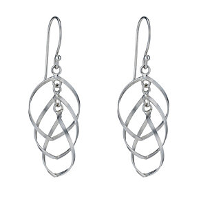 Sterling Silver Triple Fancy Drop Earrings - Product number 1783092