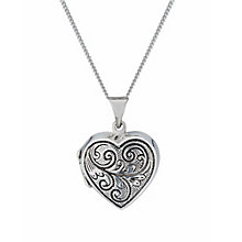Sterling Silver Antique Look Heart Locket - Product number 1783289