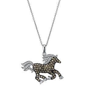 Le Vian 14ct Vanilla Gold 91 point diamond horse pendant - Product number 1783610