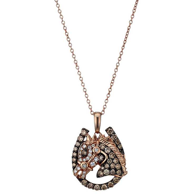 Le Vian 14ct Strawberry Gold diamond horse pendant - Product number 1783637