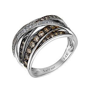 Le Vian 14ct Vanilla Gold Chocolate & Vanilla Diamond ring - Product number 1784447