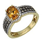 Le Vian 14ct gold citrine & diamond set band ring - Product number 1784714