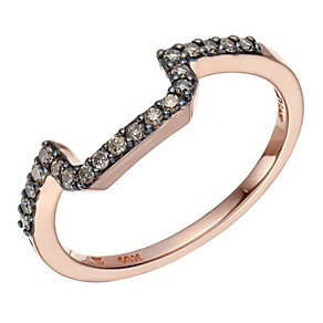 Le Vian 14ct Strawberry Gold Chocolate Diamond band ring - Product number 1785397