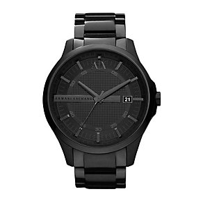 Armani Exchange Men's Smart Black Ion-Plated Bracelet Watch - Product number 1785540