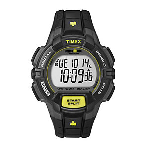 Timex Ironman Triathlon 30 Lap LCD Black Rubber Strap Watch - Product number 1838717