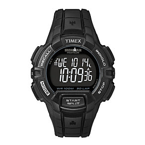 Timex Ironman Triathlon 30 Lap LCD Black Rubber Strap Watch - Product number 1838725