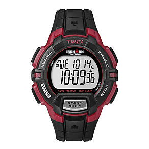 Timex Ironman Triathlon 30 Lap LCD Black Rubber Strap Watch - Product number 1838733