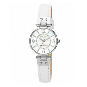 Anne Klein Ladies' White Dial White Leather Strap Watch - Product number 1838792