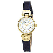 Anne Klein Ladies' White Dial Navy Leather Strap Watch - Product number 1838830