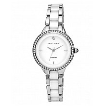 Anne Klein White Ceramic & Stainless Steel Bracelet Watch - Product number 1838849