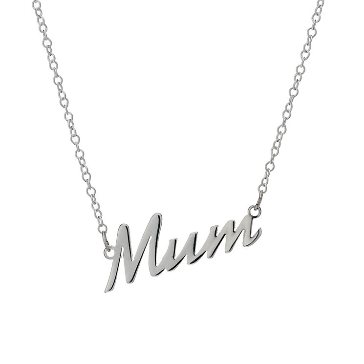 Sterling Silver 'Mum' Pendant - Product number 1843508