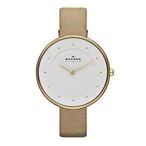 Skagen Klassik Ladies' Tan Leather Strap Watch - Product number 1845047