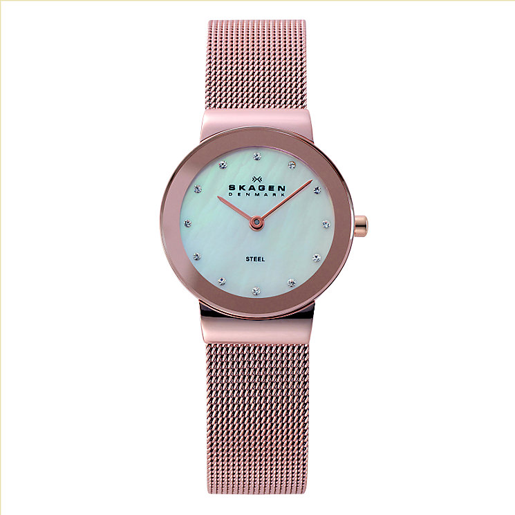 Skagen Ladies' Rose Gold-Plated Mesh Bracelet Watch - Product number 1845101