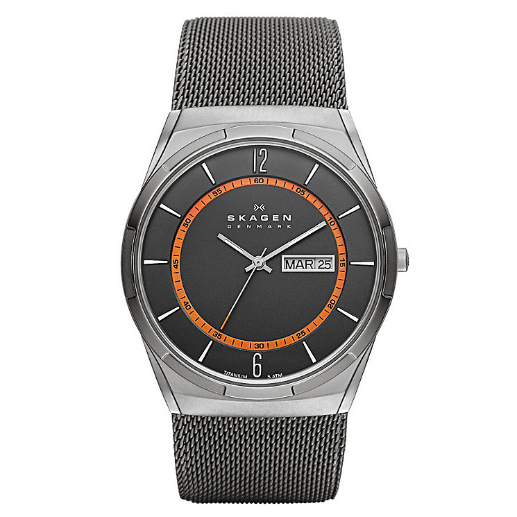 Skagen Aktiv Men's Stainless Steel Mesh Bracelet Watch - Product number 1845136