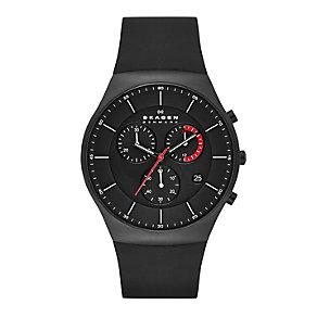 Skagen Aktiv Men's Chronograph Black Strap Watch - Product number 1845144