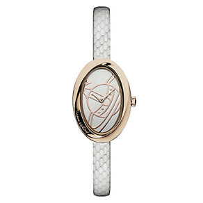Vivienne Westwood ladies' white leather strap watch - Product number 1846167