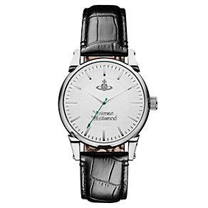 Vivienne Westwood men's black leather strap watch - Product number 1846183