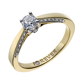 The Forever Diamond 18ct Gold 2/5 carat diamond ring - Product number 1846418