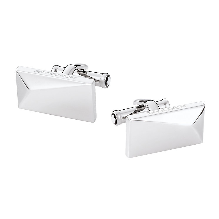 Montblanc stainless steel pointed rectangular cufflinks - Product number 1848305